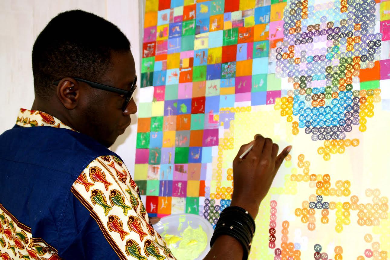Work in progress. Oeuvre de Alioune Diagne AKA Artlioune