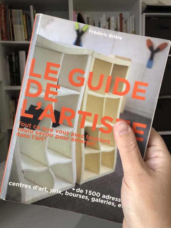 """Couverture du livre """"le guide de l'artiste"""" de Frédéric Brière"""